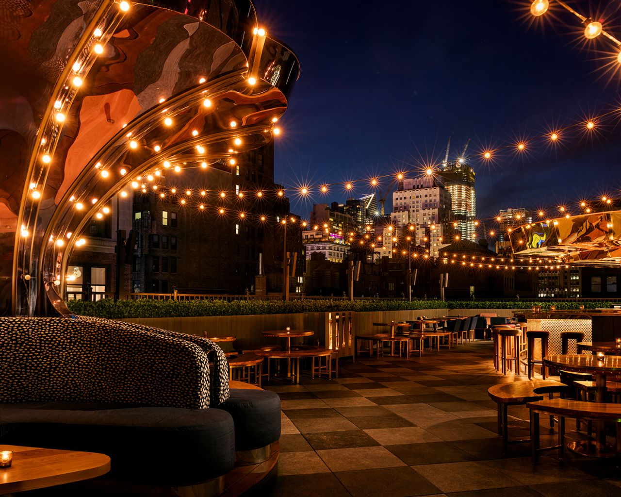 Magic Hour Rooftop Bar & Lounge - West Patio Carousel