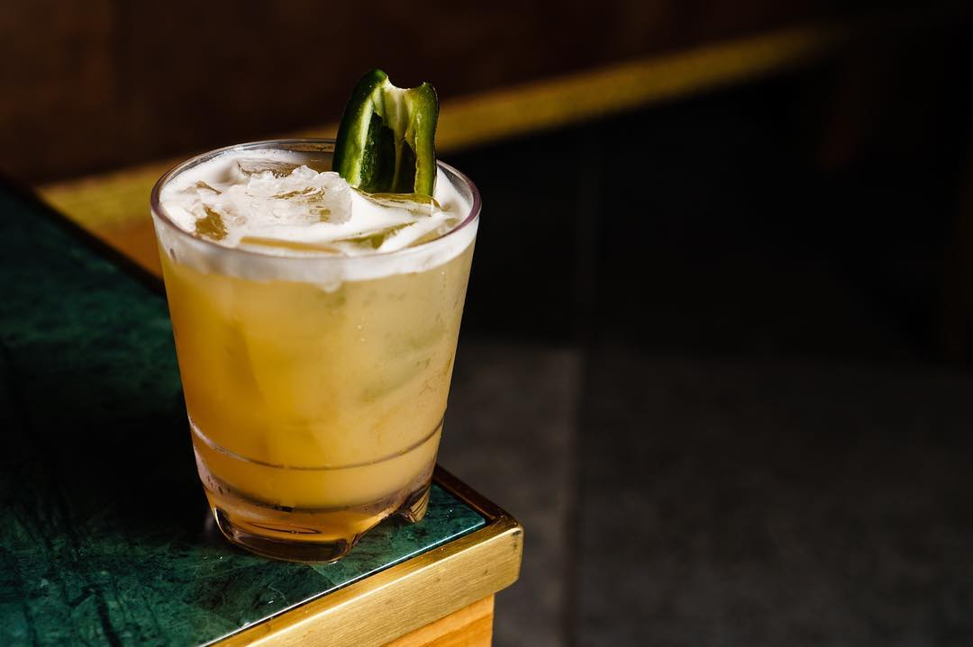 """Introducing the """"Float My Boat"""" featuring Don Julio Blanco Tequila, Caramelized Pineapple, and Jalapeno Syrup 💥👅"""